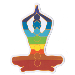Chakra Tadasana Sticky Boy High Quality Sticker