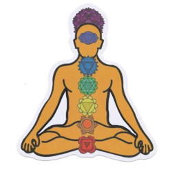 Chakra Reggo Meditation Sticky Boy High Quality Sticker