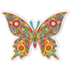 Flower Butterfly Sticky Boy High Quality Sticker