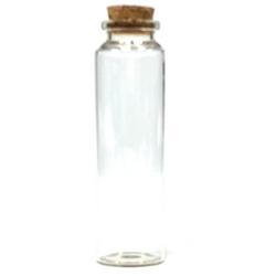 """Skinny Mouth Cork Glass Jar  3.9"""" x 1.1"""""""