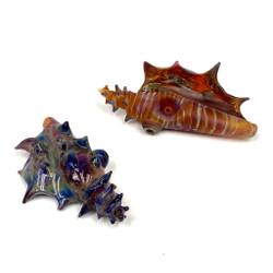 Conch Shell Glass Hand Pipe Art Colorado Made