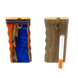 Wooden Dugout w/ Finger Grip (Assorted Colors)