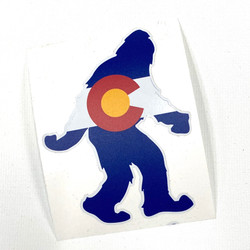 Big Foot Colorado Flag Vinyl Sticker