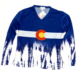 Colorado Long Sleeve Tie Dye in Cotton Large