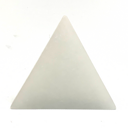 """Selenite Triangle Rock Charging / Cleansing Plate 4.9"""""""