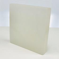 "Selenite Square Rock Charging / Cleansing Plate 4.9"" x .92"""