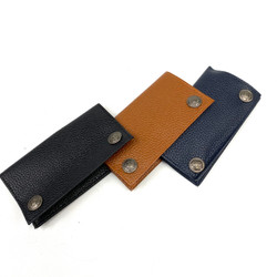 Leather Tobacco Rolling Paper Pouch with Big Western Buttons Assorted Color 1 Count