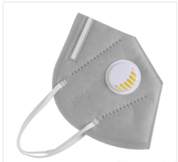 KN95 Grey Mask with Filter Semi Reusable 1 count
