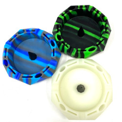 Silicone Hexagon Debowler Style Ashtray (Assorted Colors) 1 Count