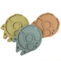 Silicone Illenium Falcon Dab Tray (Assorted Colors) 1 Count
