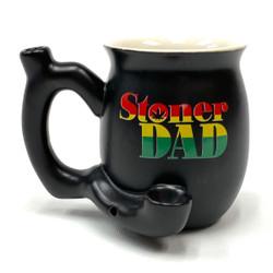 Stoner Dad Black Rasta Mug