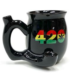 Perfect Small Black 420 Rasta Mug
