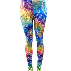 Rainbow Mandala Tie Dye Hippy Pants Leggings One Size Fits Most