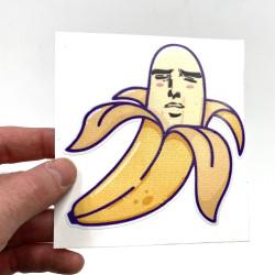 "Satisfied Erotic Banana Sticker 4"""