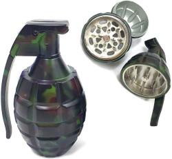 "WWII Grenade 3 Piece Steel Grinder 3.25"""