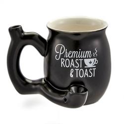 Matte Black Roast and Toast Mug Small