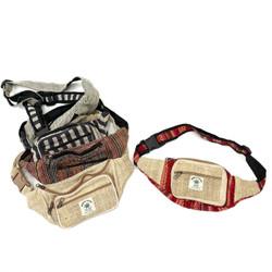 100% Hemp Fanny Pack Bag Nepal Assorted Designs 1 Count