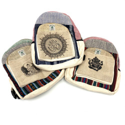 Small Hemp Backpack with Assorted Designs 1 Count
