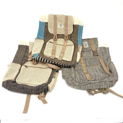 Large Strapping Hemp Backpack with Utility Straps 1 Count