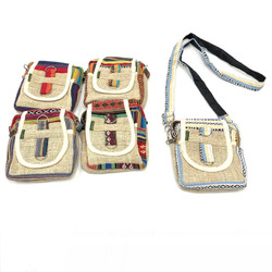 Embroidered Hemp Camera Bag Nepal 1 Count Assorted