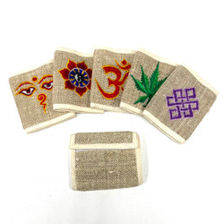 Embroidered Hemp Wallet From Nepal 1 Count Assorted