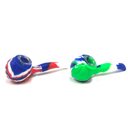 """Briar Pipe 2 Silicone with Glass Bowl 5.5"""" 1 Count Assorted"""