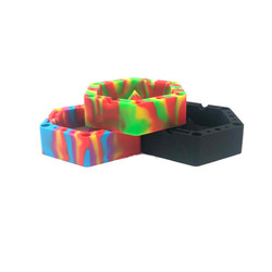 """Hexagon Ashtray Silicone Bowl Unbowler Insanity 1 Count Assorted Color 5.5"""""""