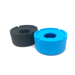 """Windproof Ashtray With Lid Silicone 1 Count Assorted Color 4"""""""