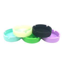 """Small Pocket Ashtray Silicone 1 Count Assorted Color 3.25"""""""