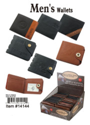 Men's $3000 Leather Wallet, Assorted 1 Count