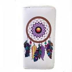 "Safe Dreams Dream Catcher Leather Women's Wallet Clutch 8"""