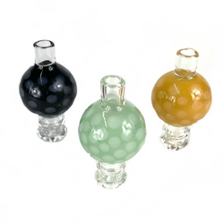 Dotted Glass Carb Cap with Airflow  1 Count Assorted