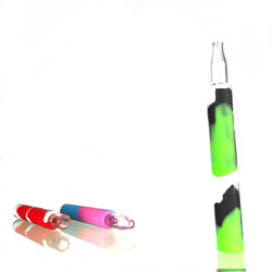 """Silicone Chillum 5"""" w/ Glass Bowl (Assorted Colors)"""