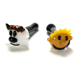Calvin and Hobbs Glass Hand Pipe 1 Count Assorted