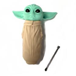 Baby Yoda Grogu Silicone Hand Pipe
