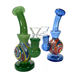 """Polywhirl Rig Water Pipe 6.25"""" 1 Count Assorted"""