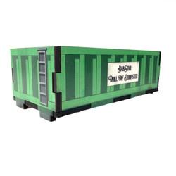 "Rolloff Qtip ISO Dab Dumpstar Printed Cedar Box 9.5 x 4.5"" x 3.25"" - USA Made 1 Count Assorted Color"