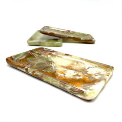 """Banded Onyx Rolling Tray 7""""x9"""" 1 Count Assorted"""