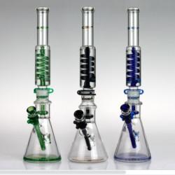 "Beaker Base Glycerin Phoenix 18"" Water Pipe 1 Count Assorted Color"