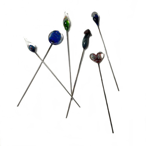 """Large Assorted Glass Pokers USA Made 1 Count Assorted 6""""+-"""