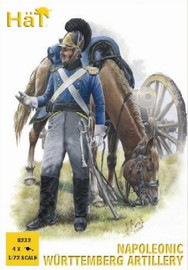 Hat Industries 8232 1/72 Napoleonic Wurttemberg Artillery (16 w/4 Cannons)
