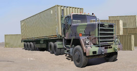 Trumpeter 1015 1/35 US M915 Army Truck w/40ft Container Trailer