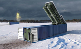 Trumpeter 1077 1/35 3M54 Club-K 40ft Variant Container Missile System