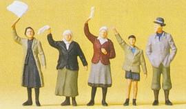 Preiser 72413 26299 Scale Civilians Waving 1:72 5/