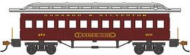 "Bachmann 13409 HO Scale 1860 - 1880 Wood Coach - Ready to Run - Silver Series(R) -- Durango & Silverton #270 ""Yankee Girl"" (red)"