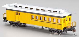 Bachmann 13503 HO Scale 1860 - 1880 Wood Combine - Ready to Run - Silver Series(R) -- Painted, Unlettered (yellow)