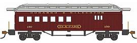 "Bachmann 13507 HO Scale 1860 - 1880 Wood Combine - Ready to Run - Silver Series(R) -- Durango & Silverton #150 ""Elk Park"" (red)"