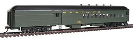 Bachmann 13603 HO Scale 72' Heavyweight Combine w/2-Window Door - Ready to Run -- Atchison, Topeka & Santa Fe #1524 (Pullman Green)