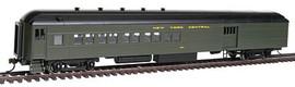 Bachmann 13604 HO Scale 72' Heavyweight Combine w/4-Window Door - Ready to Run -- New York Central #304 (Pullman Green, yellow)