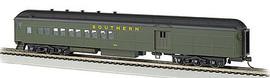Bachmann 13606 HO Scale 72' Heavyweight Combine w/2-Window Door - Ready to Run -- Southern Railway #654
